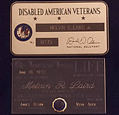 Membership Card - Disabled American Veterans