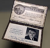 Melvin Laird's congressional ID card