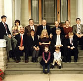 Melvin R. Laird and Family on steps of historic Laird house